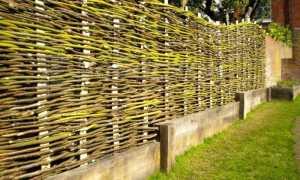 Плетень на дачу — как сделать?