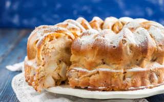 Яблочный пирог на кефире – проще, чем шарлотка