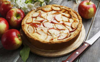 Пирог с яблоками на кефире — не хуже шарлотки