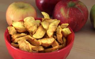 Как правильно и без проблем хранить сушеные яблоки дома