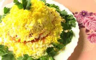 Салат «Женский каприз» из отварных овощей и грибов
