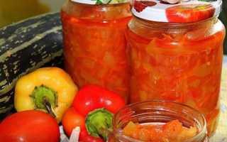 Заготовка «Анкл бенс» из кабачков и болгарского перца в томатной заливке