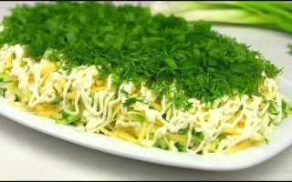 Сельдь под зеленой шубой – оригинальный и нарядный салат