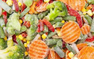 Смесь из замороженных овощей на зиму