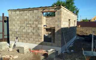 Строим самостоятельно баню из блоков