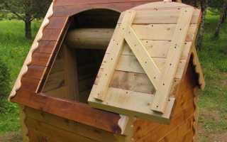 Делаем сами домик для колодца с двускатной крышей
