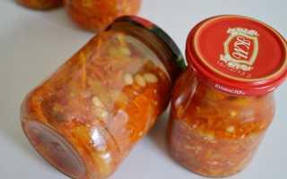 Рецепт салата из фасоли на зиму